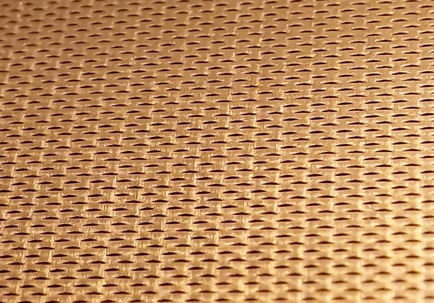 Expanded foil gauge copper