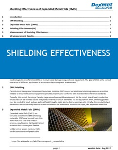Shielding Effectiveness of Expanded Metal Foils White paper cover