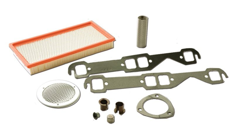 Automotive bearings and bushings made using expanded materials