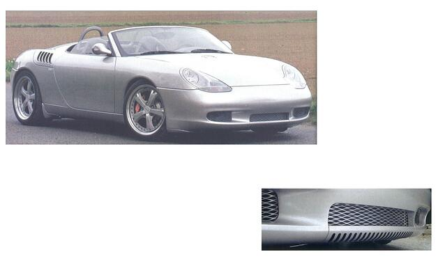 expanded metal air inlet screen on Porsche