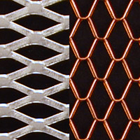 Expanded metal of varying thickness