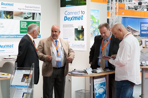 Dexmet in action at the Hydrogen Fuel Cells 2012 show held in Germany
