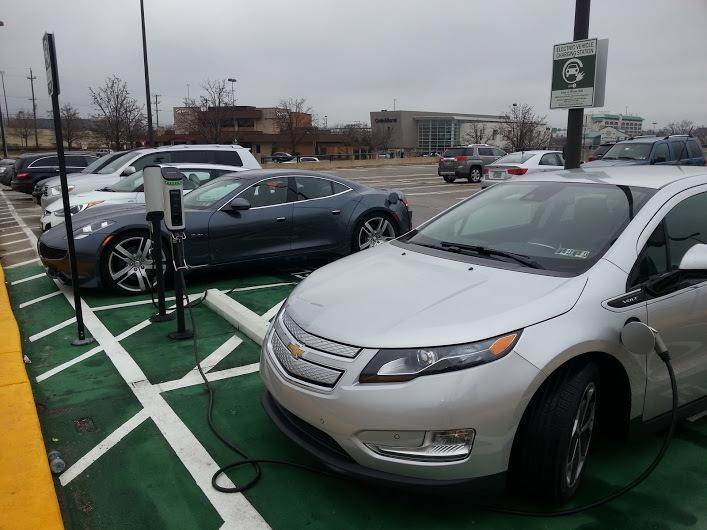 Volt charging at mall